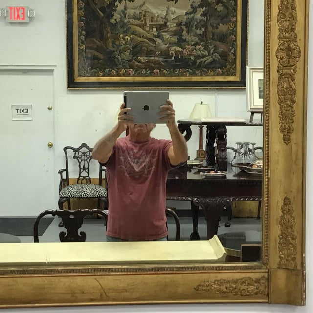 19th Century French Empire Style Giltwood Mirror For Sale - Image 5 of 9