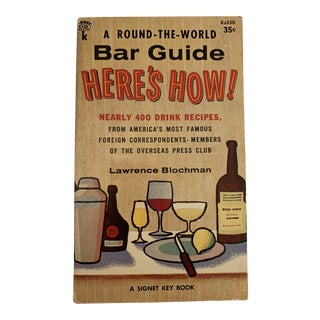 1950s Vintage A Round-The-World Bar Guide First Edition Book For Sale