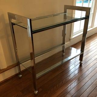 Mid-Century Chrome Bar Cart Preview