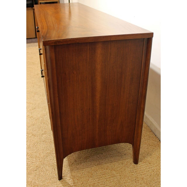 Wood Kent Coffey Perspecta Walnut/Rosewood Credenza For Sale - Image 7 of 12