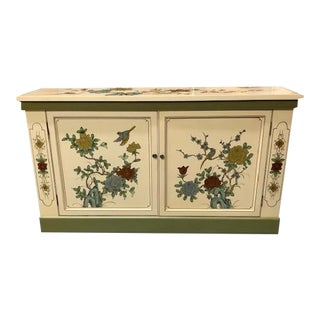 Hand Painted Chinese Console Cabinet For Sale