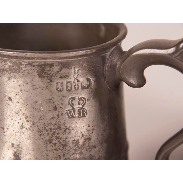 English Pewter Pieces with Maker Stamps Circa 1850 - Set of 11 For Sale - Image 10 of 11