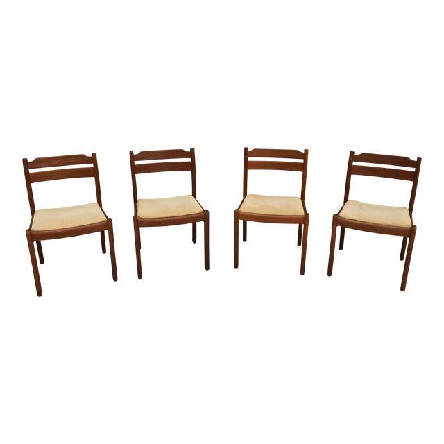 Mid-Century Danish Dyrlund Teak Chairs - Set of 4 For Sale