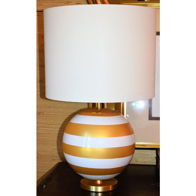 Gold & Cream Kate Spade Table Lamp For Sale - Image 10 of 10