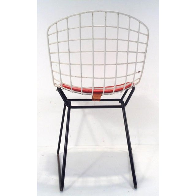 Metal Black & White Harry Bertoia for Knoll Small Children's Chair For Sale - Image 7 of 12