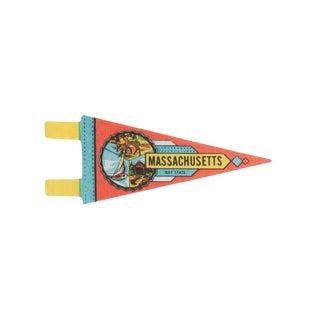Vintage Massachusetts Bay State Felt Flag Pennant