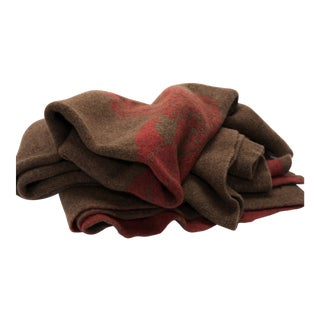 Cabin Collection Blanket in Tobacco/Brick For Sale