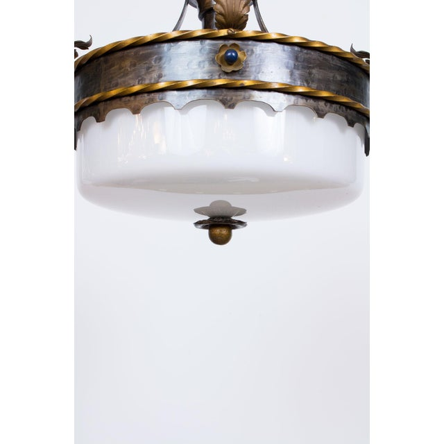 Gothic Revival Polychrome Pendant Light For Sale - Image 4 of 4