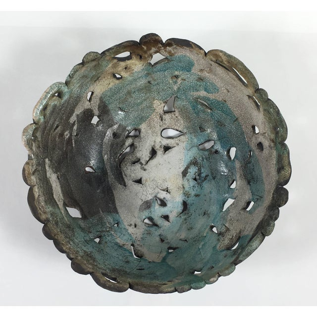 Abstract Mid Century Modern Abstract Ceramic Table Centerpiece Bowl For Sale - Image 3 of 10