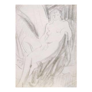 'Seated Nude' by Victor Di Gesu; 1955, Paris, Louvre, Académie Chaumière, California Post-Impressionist, Lacma For Sale