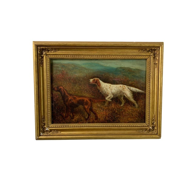 """Two fantastic early 20th century oil paintings by Herbert St. John Jones titled """"On the Yorkshire Moors"""" and """"On Their..."""