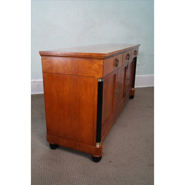 Baker French Empire Style Fruitwood Sideboard For Sale - Image 9 of 10