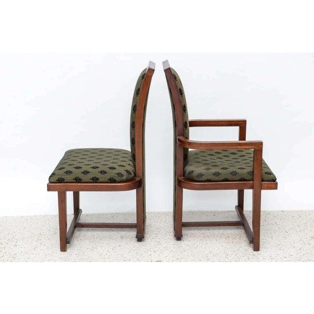 Frank Lloyd Wright Set of 12 Frank Lloyd Wright Taliesin Mahogany Dining Chairs by Henredon For Sale - Image 4 of 9