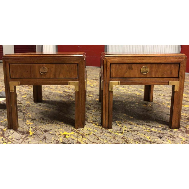Campaign Thomasville Continuity Collection Side Tables - a Pair For Sale - Image 10 of 12