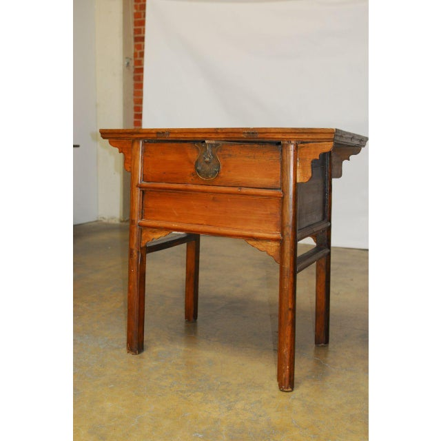 Asian Chinese Altar Coffer For Sale - Image 3 of 10