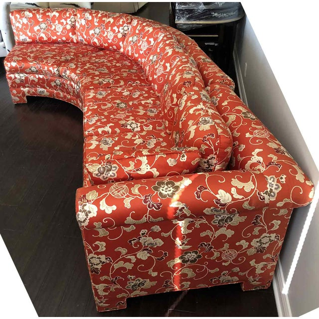 Vintage Chinoiserie Curved Sectional by Hickory Furniture For Sale - Image 12 of 13