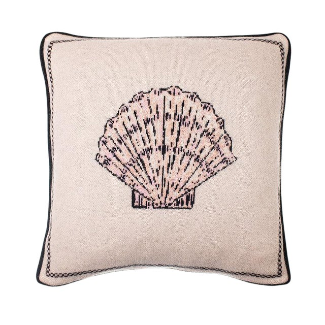 Fee Greening - Scallop Shell Cashmere Pillow For Sale