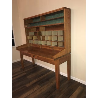 1930s Industrial Lycoming Post Office Writing Desk Preview