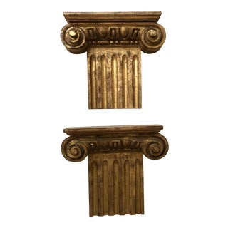 Vintage Gilded Brackets- A Pair