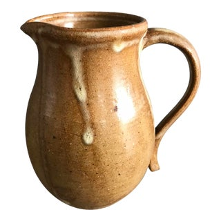 1970s Small Studio Pottery Stoneware Cream Jug Signed DeRosa '79 For Sale