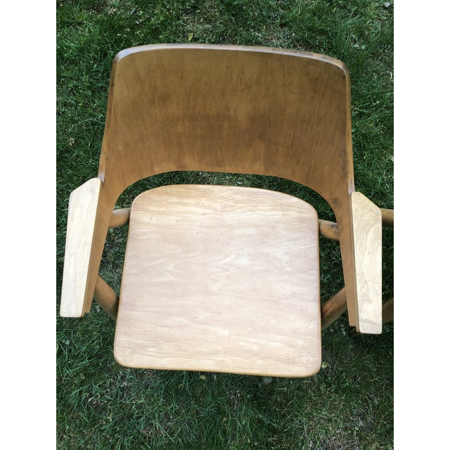 Thonet Modern Bentwood Plywood Armchairs - a Pair For Sale - Image 9 of 11