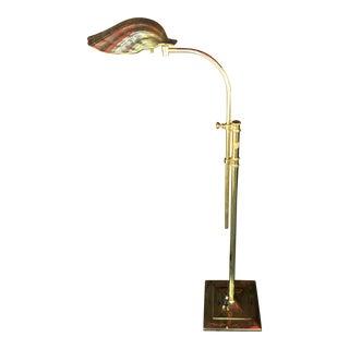 1960s Vintage Brass Shell Floor Lamp For Sale