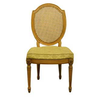Late 20th Century Thomasville Furniture Belvedere Collection Italian Provincial Cane Back Chair For Sale
