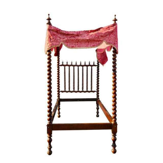 Portuguese Rosewood Tester Bed For Sale - Image 9 of 10