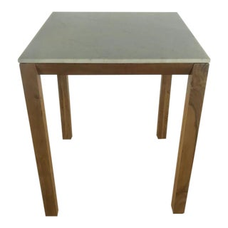 Contemporary CB2 Marble Top Table For Sale