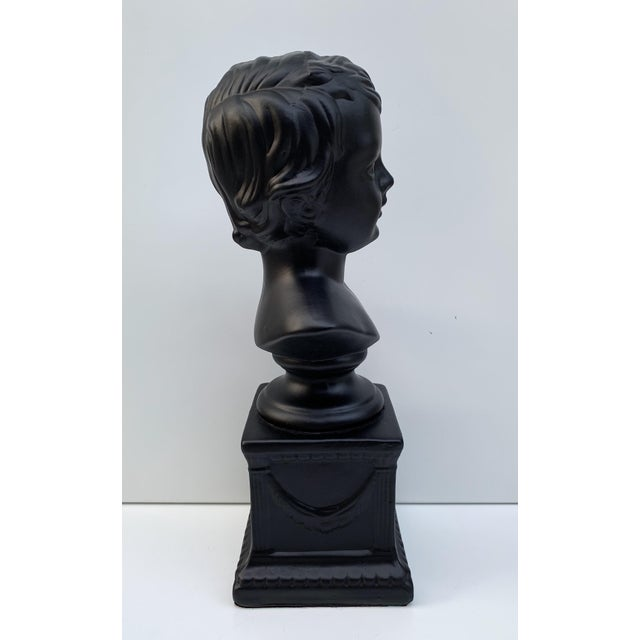 1970s 1970s Vintage Ceramic Head Bust of a Boy Sculpture For Sale - Image 5 of 7