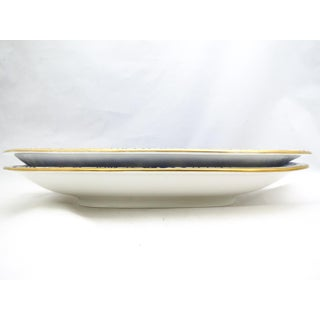 Royal Crown Derby Square Handled Cake Plates - a Pair Preview