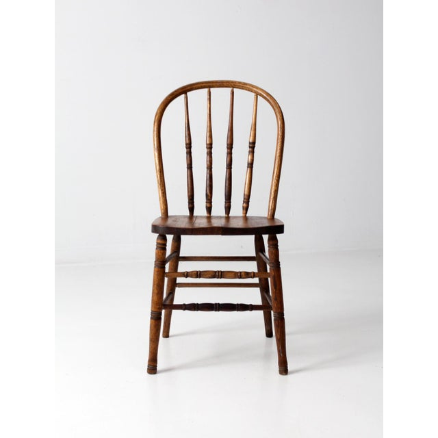 Cottage Antique Spindle Back Dining Chair For Sale - Image 3 of 9 - Antique Spindle Back Dining Chair Chairish