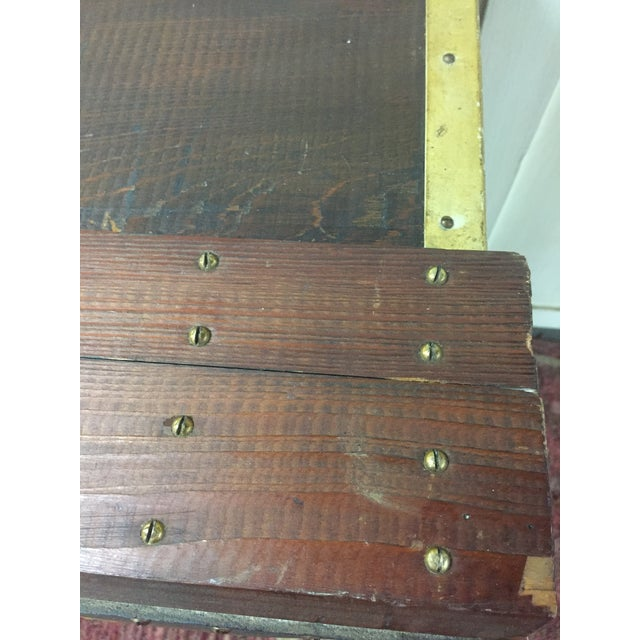 1940s Folk Art Pine Box With James F Taylor Letting For Sale In Providence - Image 6 of 8