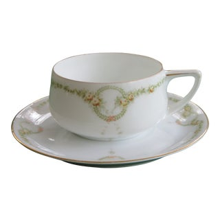 Antique Rosenthal Porcelain Tea/Coffee Cup & Saucer For Sale