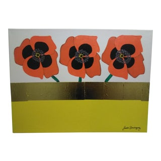 Orange Poppies Acrylic Painting For Sale