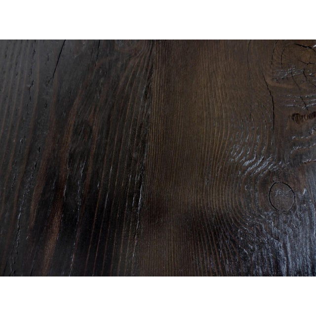 Custom Reclaimed Wood Sofa Back Table or Console For Sale In Los Angeles - Image 6 of 7