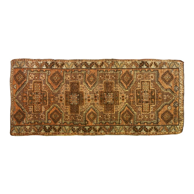 1930s Traditional Turkish Red Wool Oushak Rug - 4'10''x10'4'' For Sale