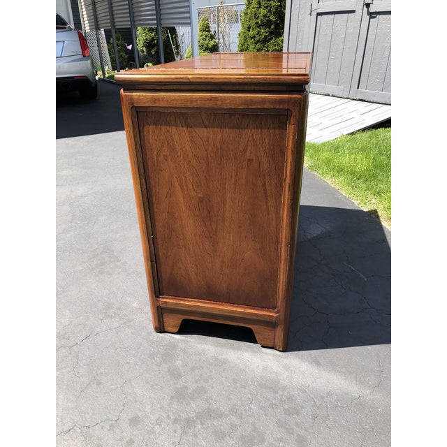 Brown 1970s Thomasville Asian Style Flip Top Bar Cabinet For Sale - Image 8 of 13