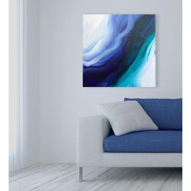 Gallery-wrapped canvas sides painted silver. Ready to hang. Framing optional. Signed by artist by artist on back Dated on...