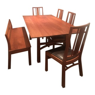 Mid Century Modern Thomas Moser Dining Set - 6 Pieces For Sale