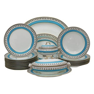 Antique Art Deco English Dinner Set For Sale