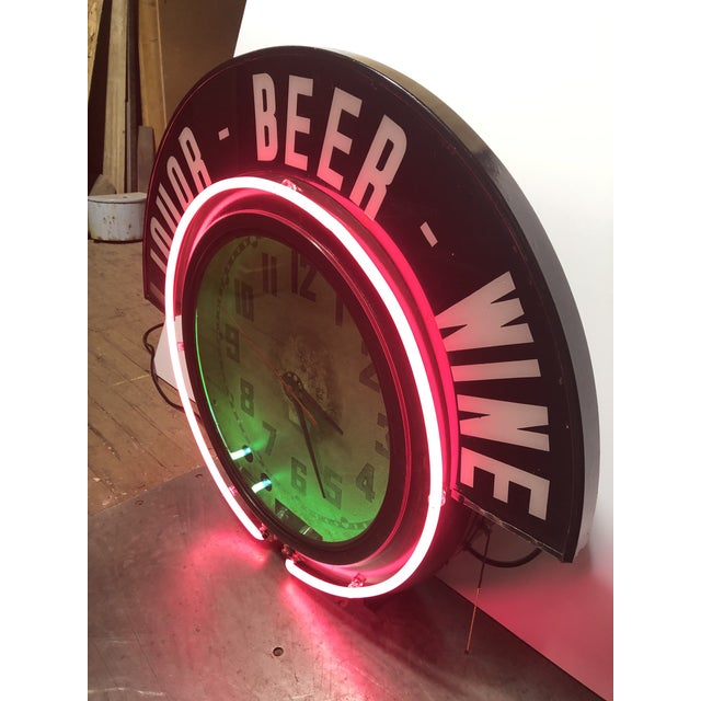 Neon Clock For Sale - Image 4 of 8
