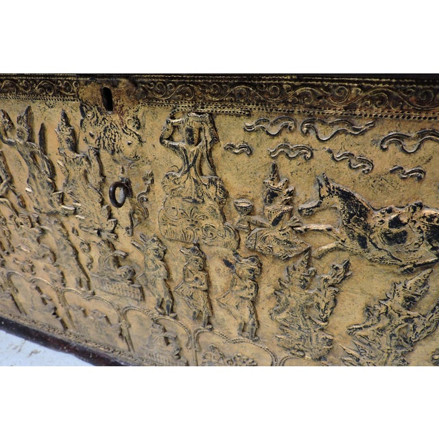 Asian Manuscript Chest From Buddhist Temple For Sale - Image 3 of 6