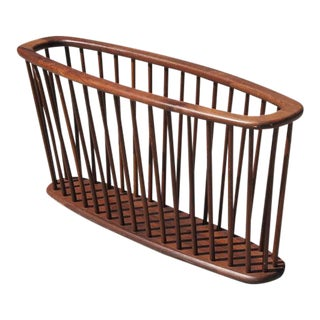 Mid-Century Teak Magazine Rack For Sale