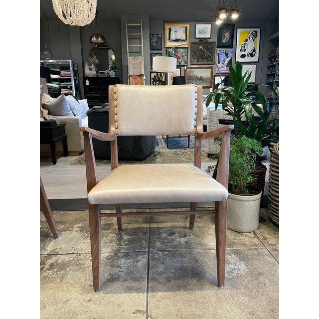 Drexel Set of 4 Van Koert Leather Chairs For Sale - Image 4 of 11