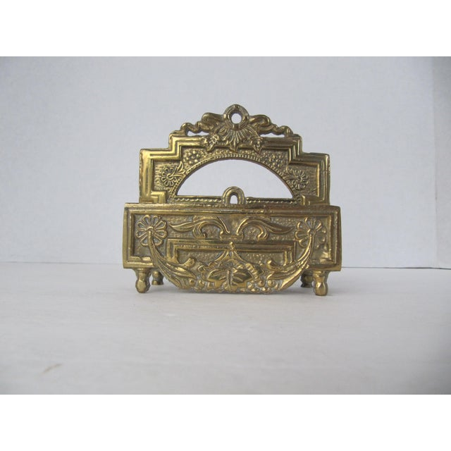 Beautiful and ornate brass business card holder. This wonderful piece would add character to any business, desk, or...