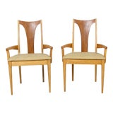 Image of 1960s Vintage Pair of Broyhill Dining Chairs - a Pair For Sale