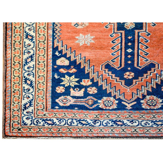 Late 19th Century Wonderful Late 19th Century Antique Azari Rug For Sale - Image 5 of 7