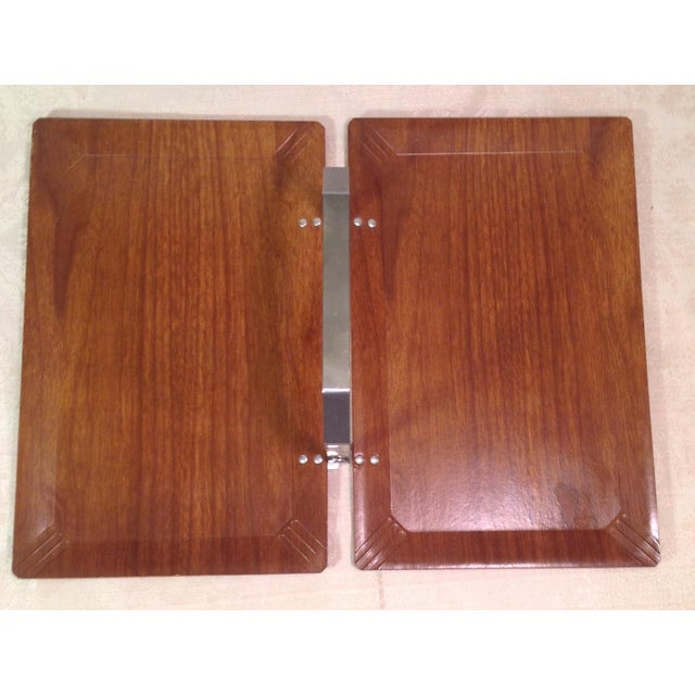 Mid-Century Modern Vintage Folding Serving Tray - Image 3 of 10