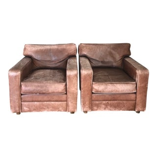 leather furniture gently used ralph furniture up to 60 at chairish 16633 | 1980s vintage distressed leather club chairs a pair 4033?aspect=fit&width=320&height=320